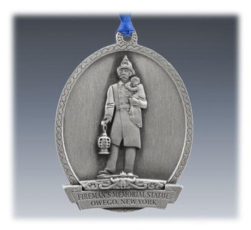 Custom Pewter Commemorative Ornament
