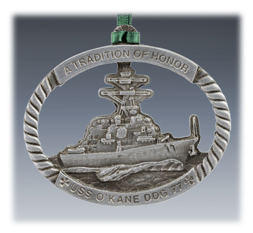 Custom Pewter USS Ornament