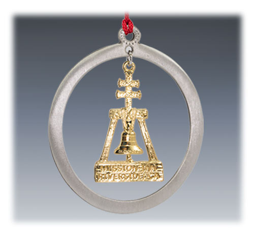 Custom Pewter Ornament with Gold Plating