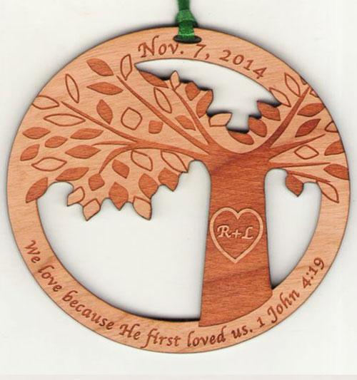Fundraiser Wood Ornament