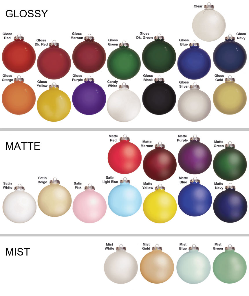 Glass Ornament Colors