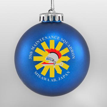 Acrylic Blue Military Ornament