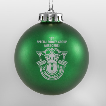 Acrylic Green Military Ornament