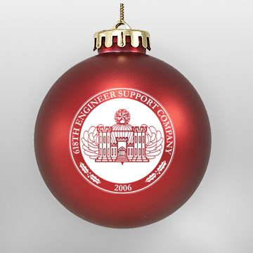 Acrylic Red Military Ornament