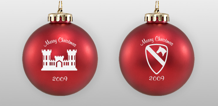 Two-Sided Acrylic Military Ornament