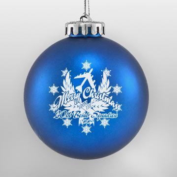 Blue Custom Shatterproof Christmas Ornament