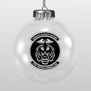 Clear Custom Shatterproof Christmas Ornament