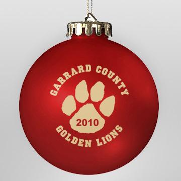 Acrylic Red School Ornament