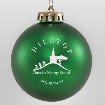 Acrylic Green School Ornament