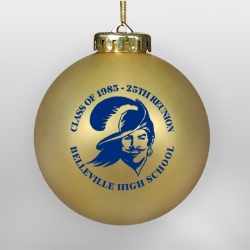 Acrylic Gold School Ornament