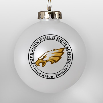 Acrylic White School Eagle Ornament