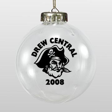 Acrylic White Pirate School Ornament