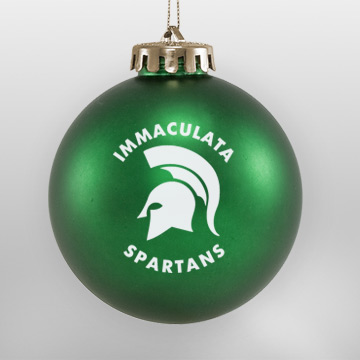 Acrylic Green Spartan School Ornament