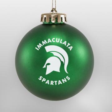 Acrylic Green Spartan School Ornament