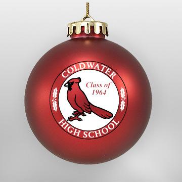 Acrylic Red Cardinal School Ornament