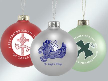 Glass Church Logo Ornaments