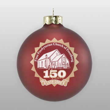Custom Glass Presbyterian Church Ornament
