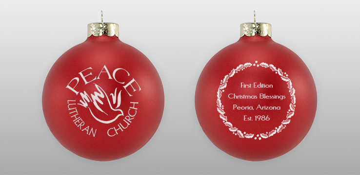 Custom Double Sided Church Glass Ornament