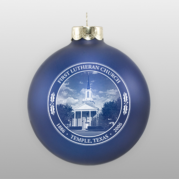 Custom Glass Lutheran Church Ornament