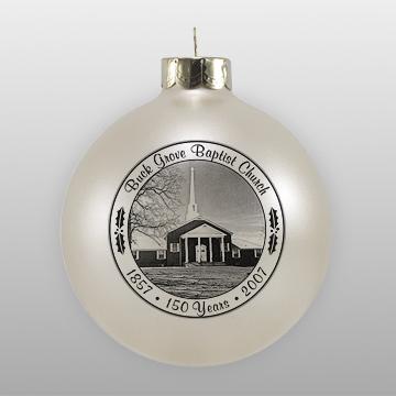 Custom Glass Baptist Church Ornament