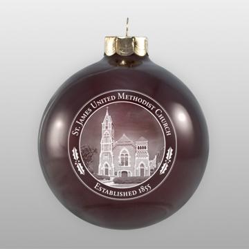 Custom United Methodist Church Glass Ornament