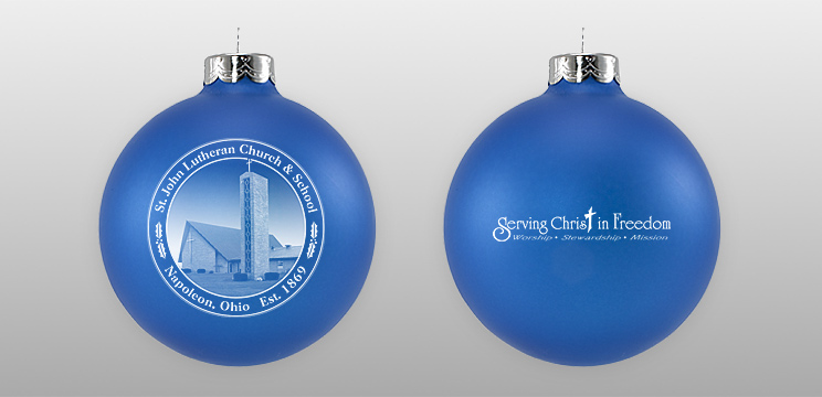 Double Sided Church Glass Ornament