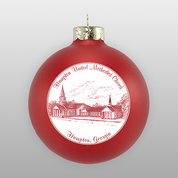 Custom Glass Church Sketch Ornament