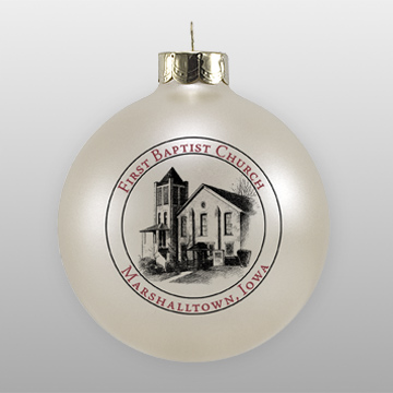First Baptist Church Custom Glass Ornament