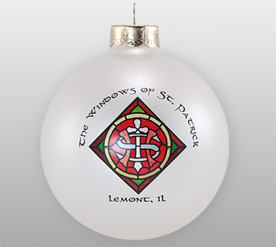 Custom Glass Stained Windows Ornament
