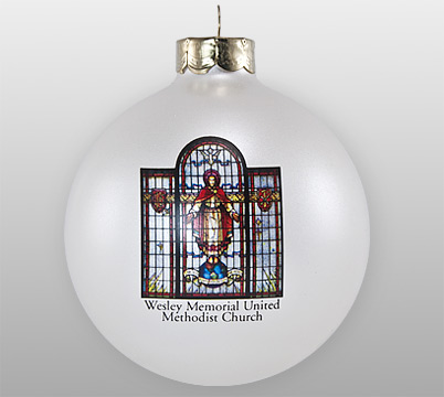 Glass Stained Glass Church Window Ornament