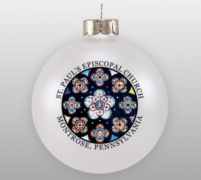 Personalized Glass Church Window Ornament