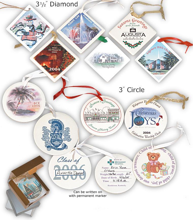 Custom Ceramic Ornament Catalogue