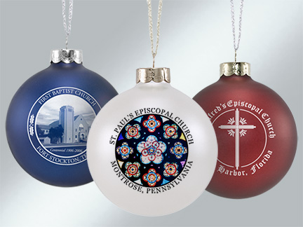 Personalized Glass Church Ornaments