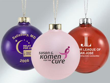 Personalized Christmas Ornaments for Clubs and Non-Profit Organizations