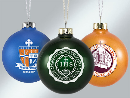 Custom Glass School Ornaments