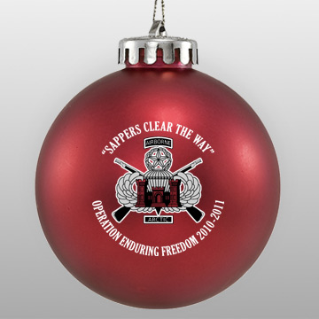 Custom Acrylic Military Ornament