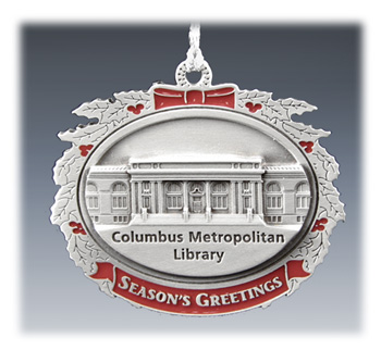 Custom Pewter Ornament with Red Color
