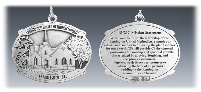 Customer Pewter Church Ornament 2D / 2-Sided