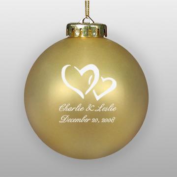 Personalized Wedding Favor Hearts Design