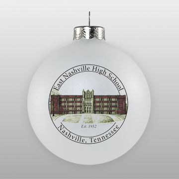 Custom Glass High School Reunion Ornament