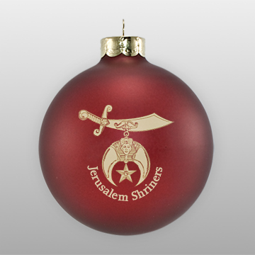 Custom Glass Matte Maroon Ornament