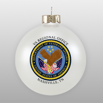 Personalized Custom Glass Ornament with Logo