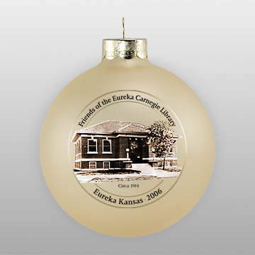 gold mist personalized christmas ornament