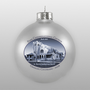 Silver Personalized Landmark Ornament