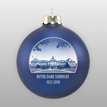 matte nave personalized christmas ornament