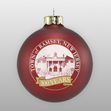 matte maroon personalized christmas ornament
