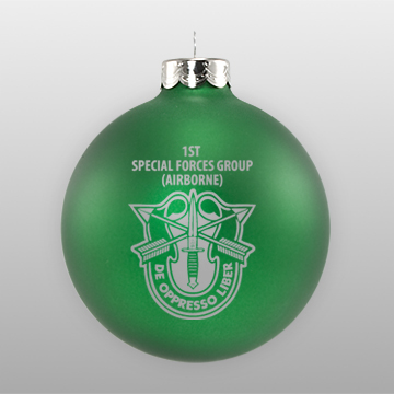 Matte Green Customized Military Ornament