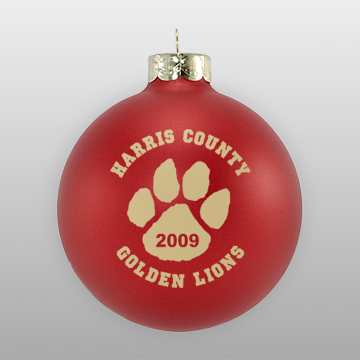 Custom School Christmas Ornament