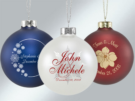 Personalized Wedding Favor Ornaments