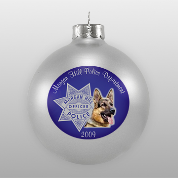 Custom Police Department Ornament